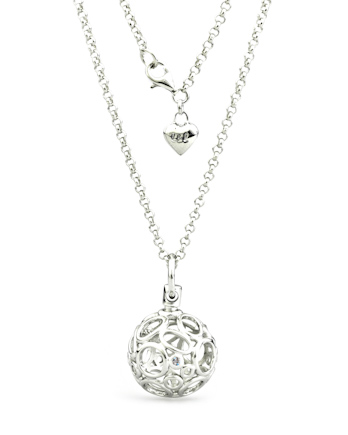 Lily & Lotty Chloe Necklace - Sterling Silver with Genuine Diamond
