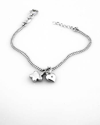 Lily & Lotty Elsie Bracelet - Sterling Silver with Genuine Diamond
