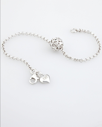 Lily & Lotty Emily Bracelet - Sterling Silver with Genuine Diamond