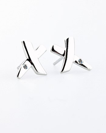Lily & Lotty Eva Earrings - Sterling Silver with Genuine Diamond