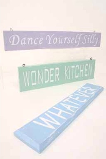 Wooden 'Dance Yourself Silly' Bedroom Sign