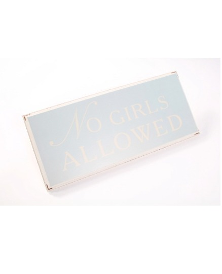 No Girls Allowed Bedroom Sign