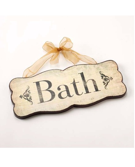 Bath Room Door Sign