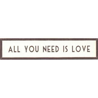 All You Need is Love Long Wooden Framed Print East of India