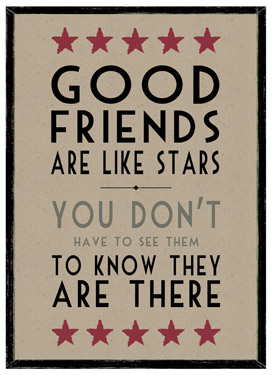 Good Friends Are Like Stars.... Wooden Framed A3 Print East of India