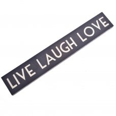 Live, Laugh, Love Wooden Room Sign East of India